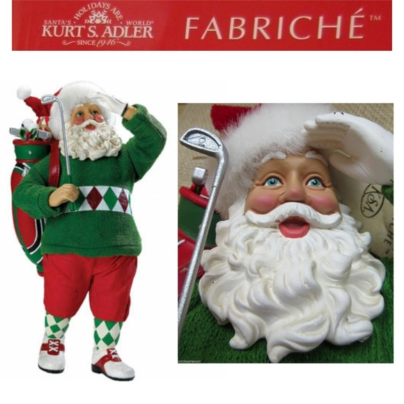 Kurt Adler Fabriche Par-Fect Game Golfing Santa